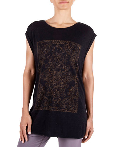Gaiam Sloan Short Sleeve Tee-BLACK-Medium
