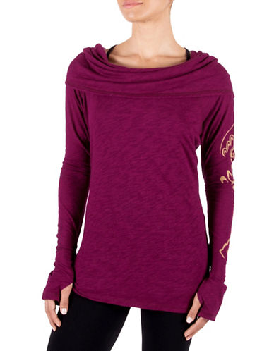 Gaiam Emery Cowl Top-PURPLE-Medium 88712919_PURPLE_Medium