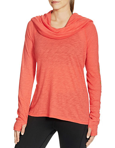 Gaiam Emery Cowl Top-PINK-Large 88712925_PINK_Large