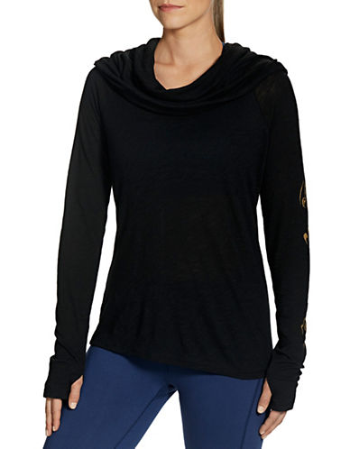 Gaiam Emery Cowl Top-BLACK-Small