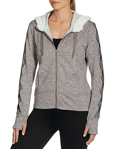 Gaiam Arurora Fleece Jacket-GREY-X-Large