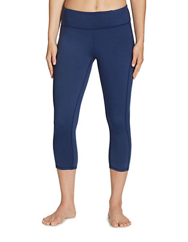 Gaiam Luxe Yoga Capri-BLUE-X-Small