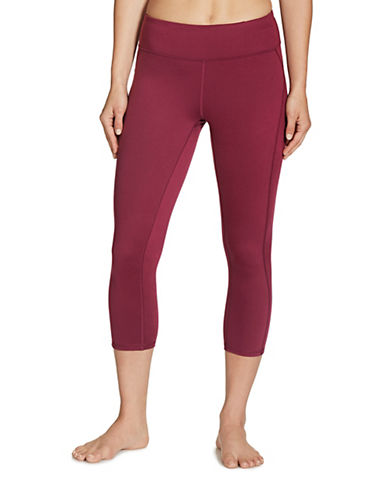 Gaiam Luxe Yoga Capri-WINE-Large