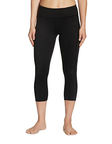 Gaiam Luxe Yoga Capri-BLACK-Medium 88712874_BLACK_Medium