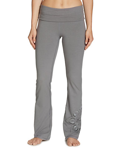 Gaiam Nova Bootcut Pants-GREY-X-Small