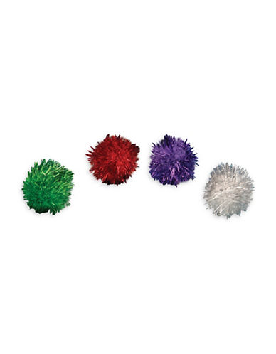Penn Plax 96-Piece Glitter Balls Canister Set-ASSORTED-One Size