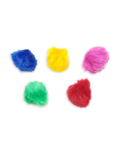 Penn Plax 180-Piece Cotton Fuzzy Balls Canister Set-ASSORTED-One Size