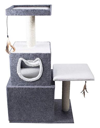 Penn Plax Dual Hideaway Activity Lounge-GREY-One Size