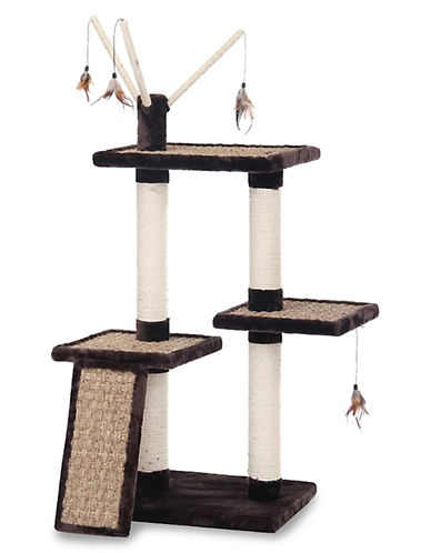 Penn Plax Three-Level Climber Tower-BLACK-One Size