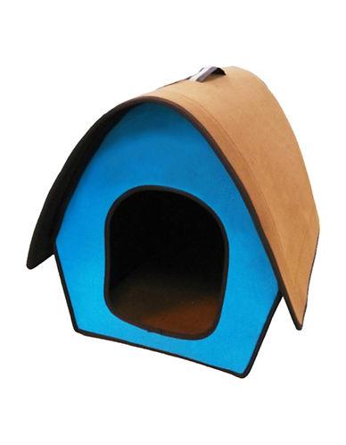 Penn Plax Folding Zip Up Cotton Pet Home-BLUE-One Size
