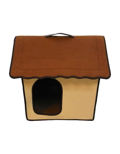 Penn Plax Folding Zip Up Cotton Pet Home-BROWN-One Size