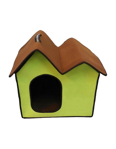 Penn Plax Folding Zip Up Cotton Pet Home-GREEN-One Size
