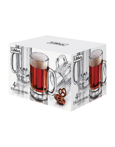 Libbey Set of Four Heidelberg Glasses-CLEAR-One Size