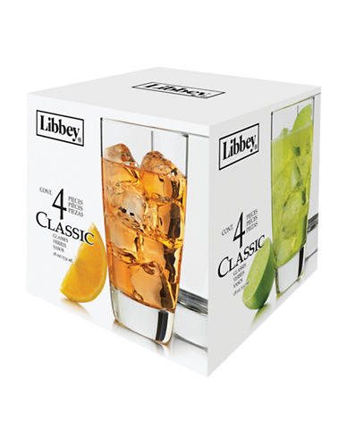 Libbey Four Piece Classic Tall Glass Set-CLEAR-One Size