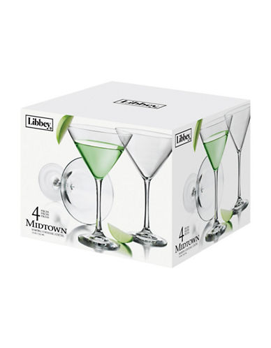 Libbey Set of Four Martini Glasses-CLEAR-One Size