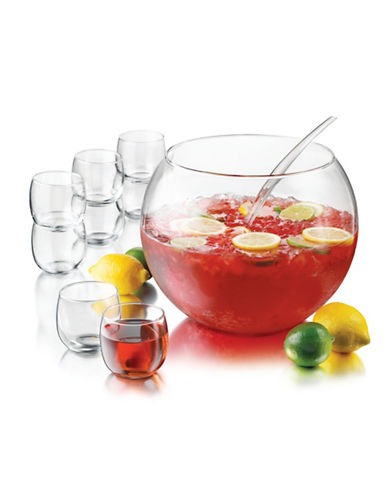 Libbey Selene 10 Piece Punch Bowl Set-CLEAR-One Size