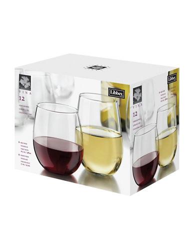 Libbey Twelve Piece Stemless Wine Set-CLEAR-One Size