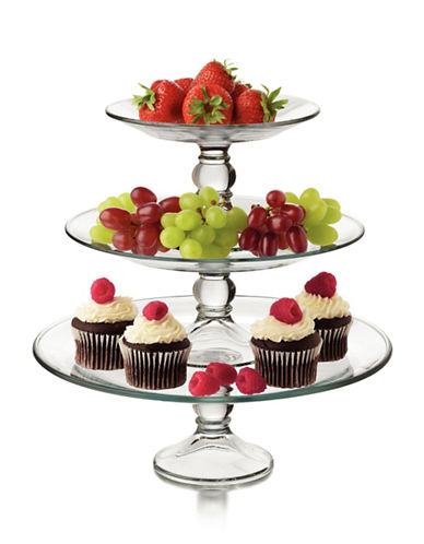 Libbey Three Tier Platter Set-CLEAR-One Size