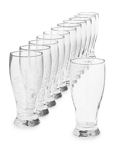 Essential Needs Set-of-12 Pub Glassware-CLEAR-One Size