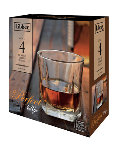 Libbey Set of Four Perfect Rye Glasses-CLEAR-One Size