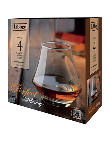 Libbey Set of Four Perfect Whisky Glasses-CLEAR-One Size