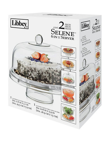 Libbey Two-Piece 6-in-1 Serving Set-CLEAR-One Size