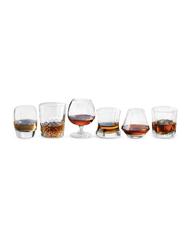Libbey Six Piece Assorted Whisky Glasses Set-CLEAR-One Size