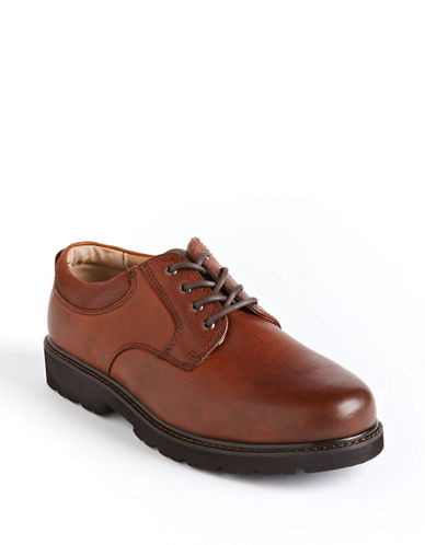 Dockers Preserve Waterproof Leather Derby Shoes-DARK TAN-10.5W
