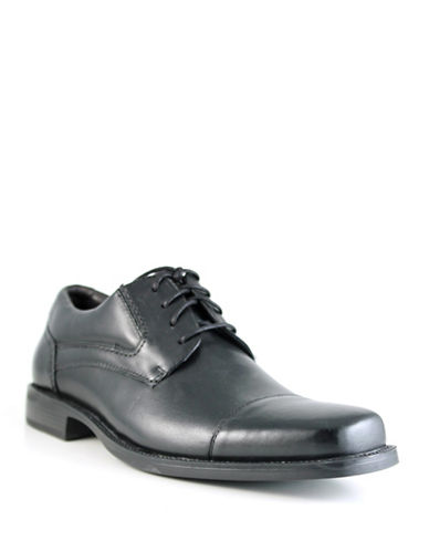 Dockers Takeover Leather Dress Shoes-BLACK-9W