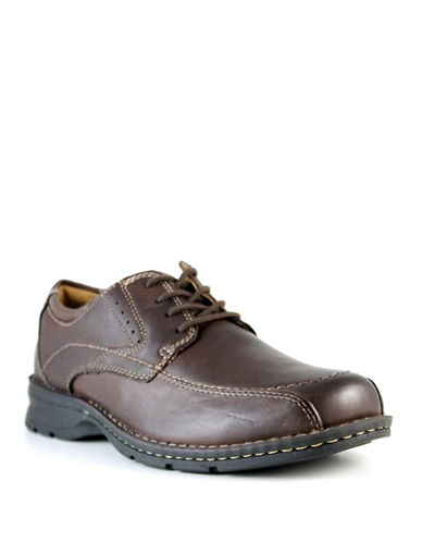 Dockers Paladine Leather Dress Shoes-BROWN-9.5