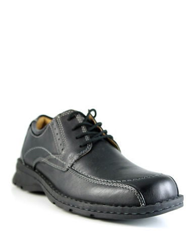 Dockers Endow Leather Dress Shoes-BLACK-9.5