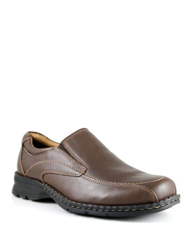 Dockers Custodian Leather Shoes-BROWN-12