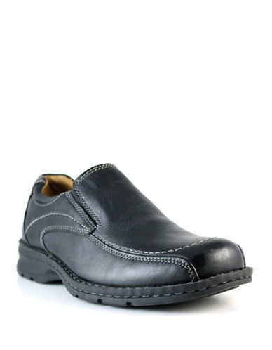 Dockers Custodian Leather Shoes-BLACK-9.5