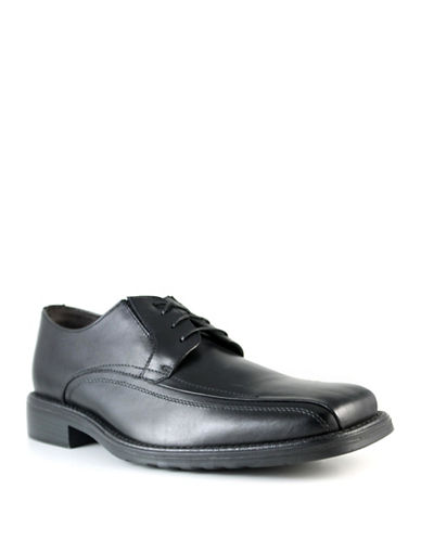 Dockers Seminar Leather Dress Shoes-BLACK-9W