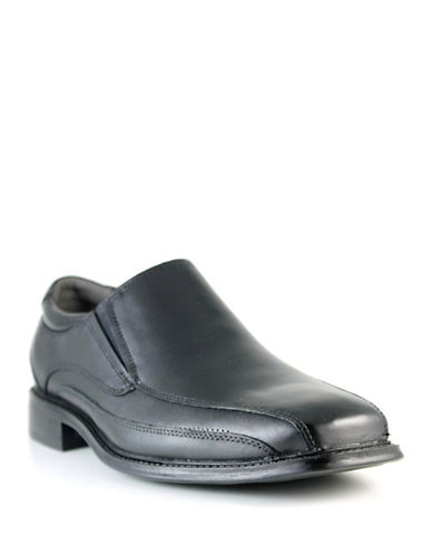 Dockers Franchise Leather Dress Shoes-BLACK-12W