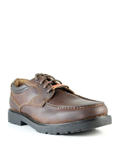 Dockers Longmire Laced-Up Leather Shoes-COGNAC-8.5
