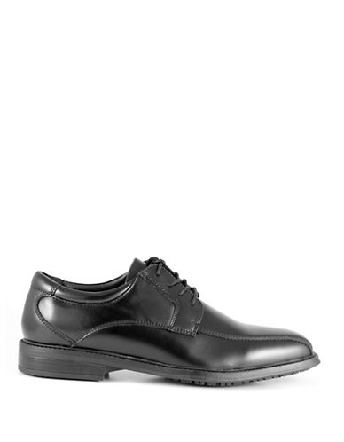 Dockers Bernal Leather Derby Shoes-BLACK-9.5