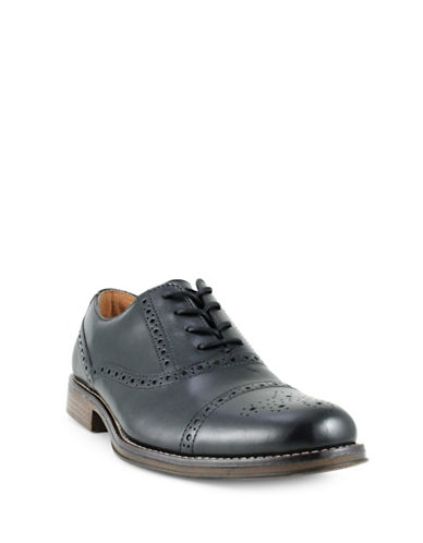 Dockers Piedmont Wing Tip Leather Oxfords-BLACK-9