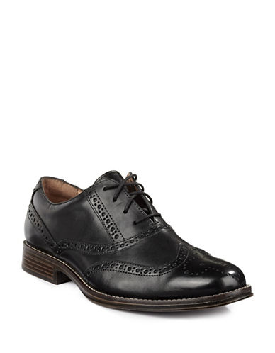 Dockers Corinth Full Brogue Oxford Leather Shoes-BLACK-9