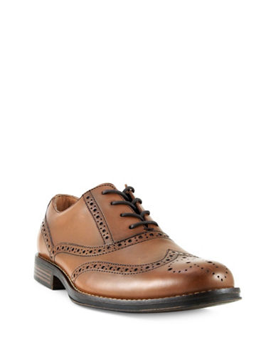 Dockers Corinth Full Brogue Oxford Leather Shoes-COGNAC-8.5