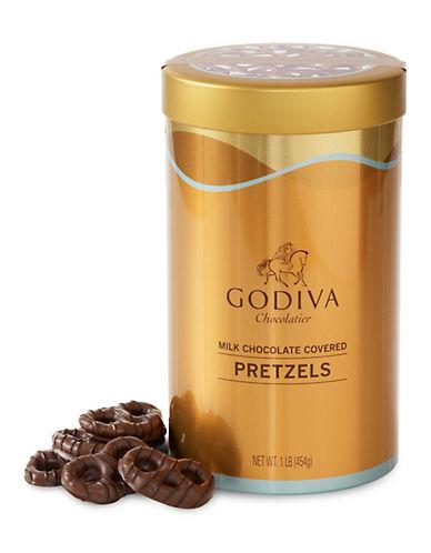 Godiva Milk Chocolate Covered Pretzel Tin-NO COLOR-One Size