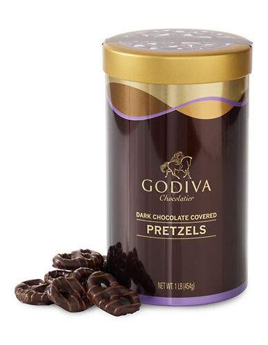Godiva Dark Chocolate Pretzel Canister-BROWN-One Size