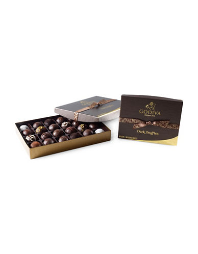 Godiva Set of 12 Assorted Dark Truffle-NO COLOR-One Size