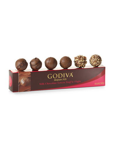 Godiva Six-Piece Milk Chocolate Lovers Truffle Flight Set-NO COLOR-One Size