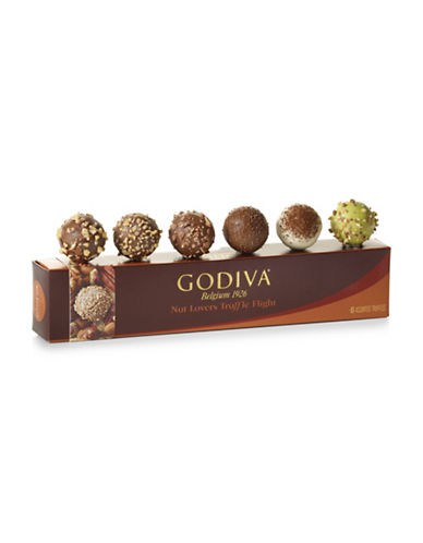 Godiva Six-Piece Nut Lovers Truffle Flight Set-NO COLOR-One Size