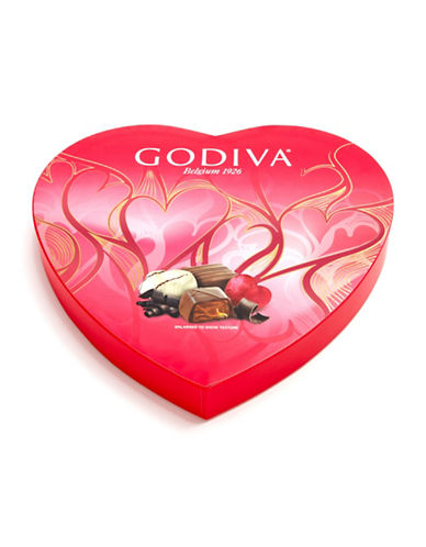 Godiva 20-Piece Heart Box-RED-One Size