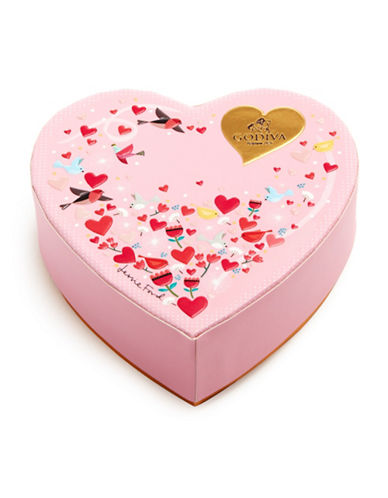 Godiva Six-Piece Valentines Day Mini Heart Box-PINK-One Size