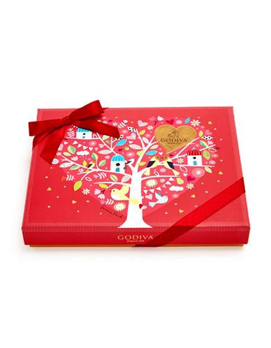 Godiva 21-Piece Rectangular Gift Box-RED-One Size