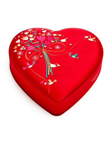 Godiva 25-Piece Valentines Day Fabric Heart Box-RED-One Size