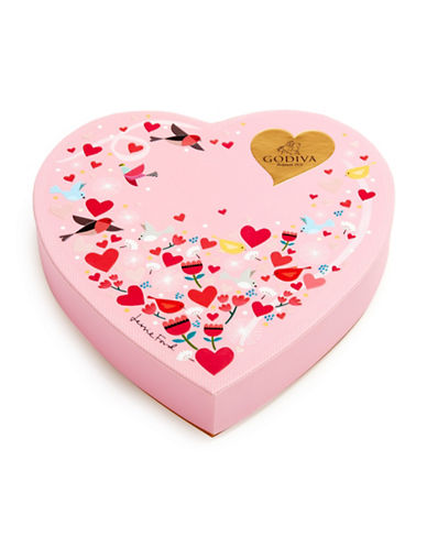Godiva 14-Piece Heart Box-PINK-One Size